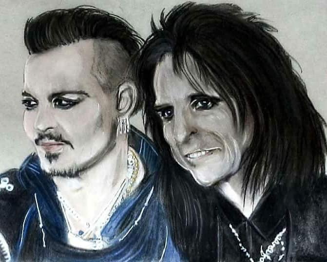 Alice Cooper, Johnny Depp by Slogirl64